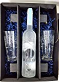 Belvedere Vodka Set / Geschenkset - Belvedere Vodka 70cl (40% Vol) +2 Original Gläser