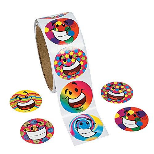 Rollen, regenbogenfarben, Papier-Aufkleber, Verpackungssiegel, Basteln, Hochzeits-Geschenketiketten, 100 Stück pro Rolle für Kinder-Partys, Kreative Scrapbooks, Spielpreise ()