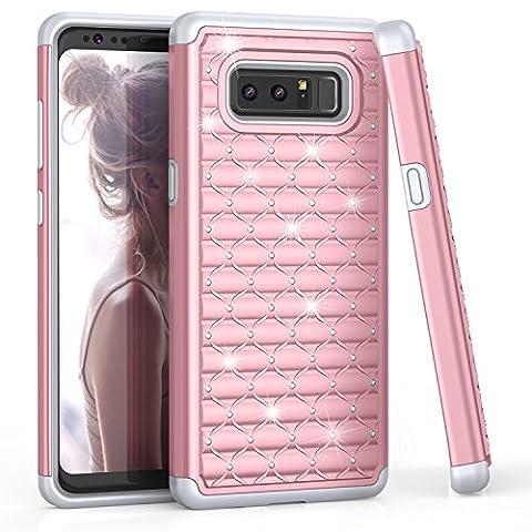 Coque Samsung Note 8 Case, [Diamant Strass] Clouté Bling [Couleur