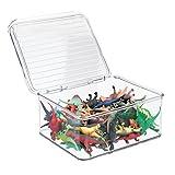 mDesign Organizador de juguetes con tapa - Cajas de almacenaje para...