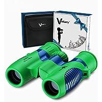 prismáticos para niños 8x21 de Vanstarry - Juguete binocular compacto a prueba de golpes para niños y niñas con óptica real de alta resolución - Ideal para viajes, safari, aventura y diversión al aire