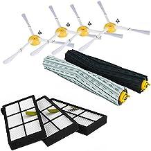 iRobot Kit De Recambio Roomba Serie 800 860 865 866 870 871 880 885 886 890 900 960 966 980 - Accesorios, Filtros y Cepillos - Garantía: 24 Meses Bosaca Oficial