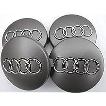 Conjunto de 4 tapas de centro para llantas de aleación con el logotipo de Audi,