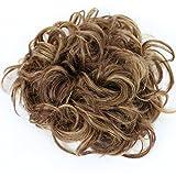 PRETTYSHOP XXL Postiche Cheveux En Caoutchouc Chouchou Scrunchy Chignons VOLUMINEUX Bouclés Ou Chignon Décoiffé mélange blond brun rougetre # 33H27 HW32