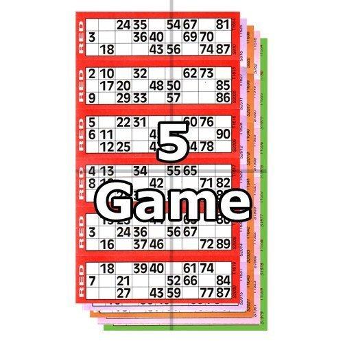 Jumbo Bingo Ticket Booklets, 6 Ansicht, 5 Spiel