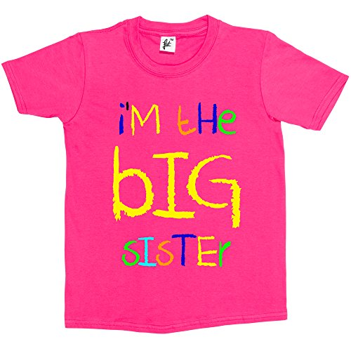 im-the-big-sister-funny-cool-gift-kids-boy-girl-cotton-short-hot-pink-sleeve-t-shirt-size-3-4-years