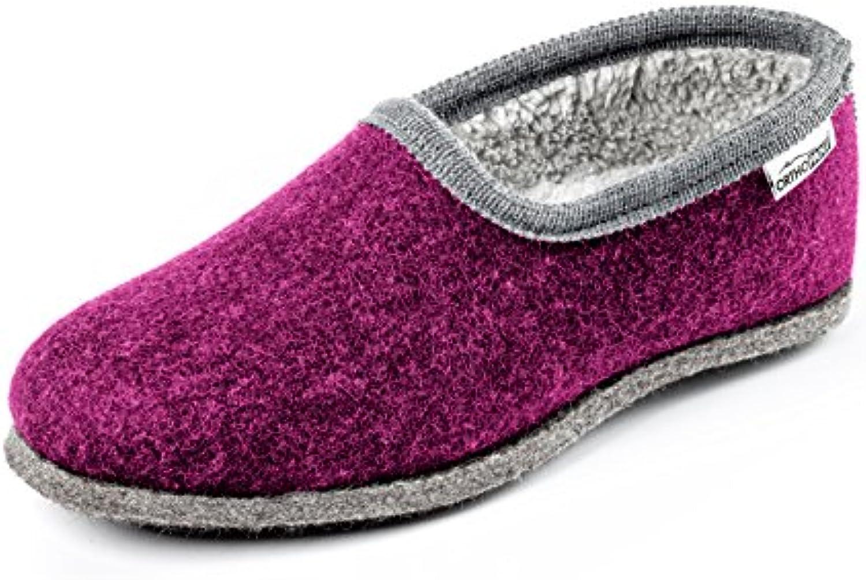 Orthopant Orthopant Orthopant Pantofole in Feltro Donna - Feltro e cottone per Una Sensazione Speciale di naturalezza e Comfort -... | nuovo venuto  786f0d