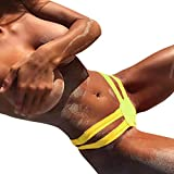URSING_Damen Sexy Bottoms/Frauen Tanga Bikinihose String Brazilian Bikini Slip/Vintage Freche Tanga/Sommer V Badehose Ba