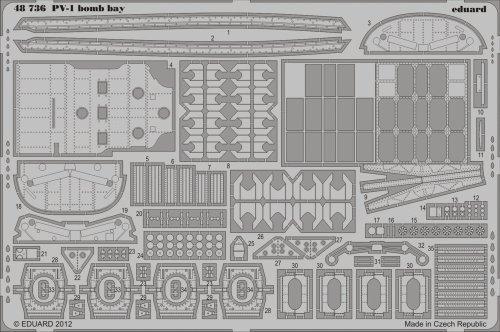 Eduard Photoetch 1:48 - PV-1 bomb bay (Revell) - EDP48736