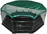 BUNNY BUSINESS 8-Panel Playpen with Free Safety Net and Nylon Floor, 55 x 55-inch, Extra Large