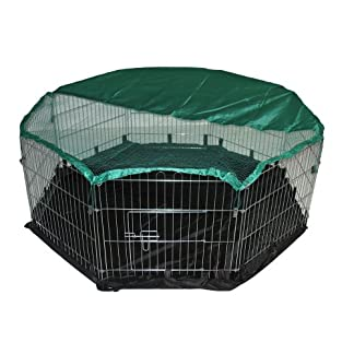 BUNNY BUSINESS 8-Panel Playpen with Free Safety Net and Nylon Floor, 55 x 55-inch, Extra Large 12