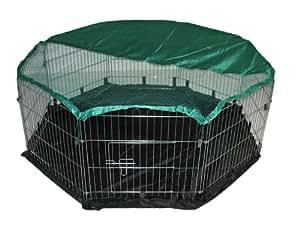 Bunny Business Enclos 8 panneaux avec filet de sécurité et tapis de sol en nylon Taille XL 139,7 x 139,7cm