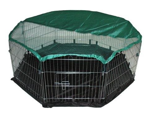 BUNNY BUSINESS box a pannelli con rete di sicurezza e nylon Floor, 55x 139,7cm, extra large