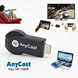 #4: Rewy Anycast wifi HDMI Dongle Wireless Display For Iphone Ipad Windows Pc Android,Tablets to TV Selector Box Airplay WiFi Display Miracast