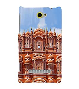 PrintVisa Jaipur Hawa Mahal 3D Hard Polycarbonate Designer Back Case Cover for HTC Windows Phone 8S :: HTC 8S