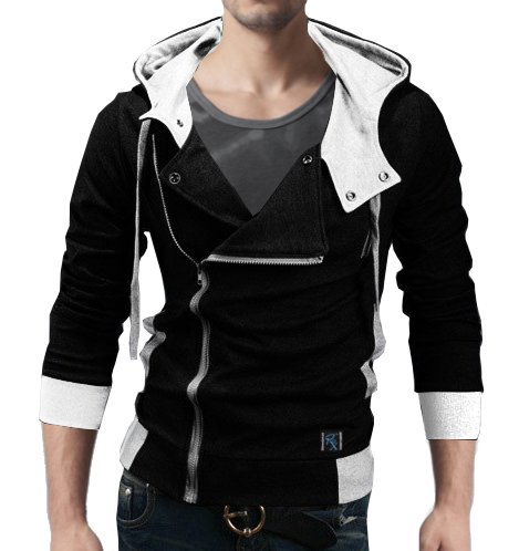 Seven Rocks Rich Cotton Men's Hoodie Sweatshirt Jacket (XX-Large)