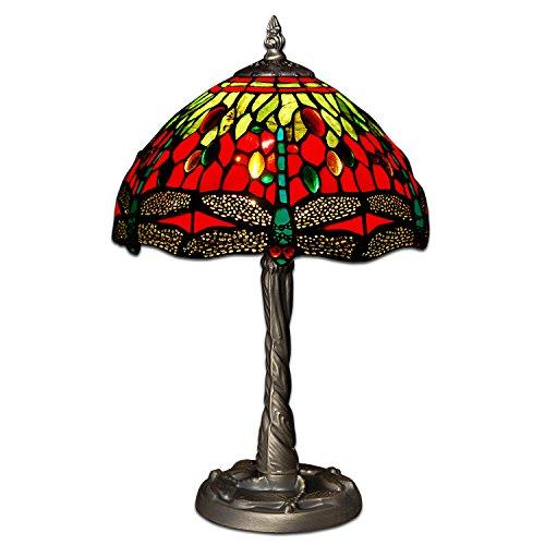 Arte Dal Mondo Nachttischlampen tischlampe dragonfly glas im tiffany-stil handwerk GD10122