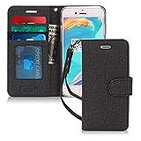 FYY iPhone 6S Plus Hülle,iPhone 6 Plus Hülle, [Premium Leder] [Standfunktion] [Kartenfach] [Magnetverschluss] Brieftasche für iPhone 6 Plus/iPhone 6S Plus, Leinwand Schwarz