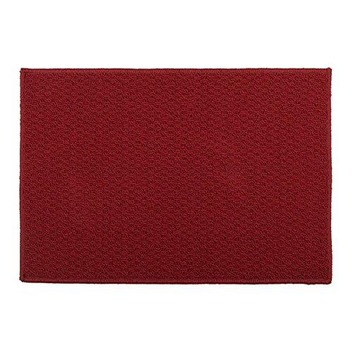 bd jfew Küche Matte Teppich Teppiche Fußmatten Bad Balkon Rutschfeste Maschinenwäsche, Dicke 6mm, 8 Farben, 7 Größen (Farbe: Burgund, Größe: 40 * 60 cm)