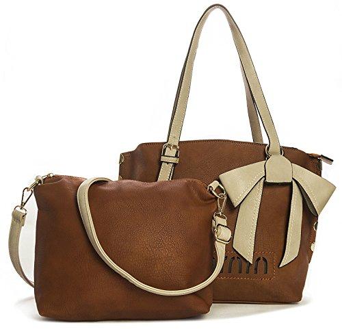 Big Handbag Shop - Sacchetto donna Marrone (Cammello medio)