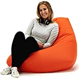 XX-L Orange Highback Beanbag Chair Water resistant Bean bags for indoor and Outdoor Use, Great for Gaming chair and Garden Chair