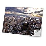Städte 10007, New York, Skin-Aufkleber Folie Sticker Laptop Vinyl Designfolie Decal mit Ledernachbildung Laminat und Farbig Design für Laptop 15.6