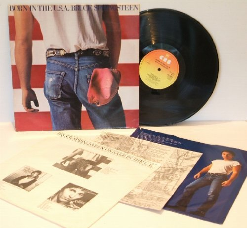 BRUCE SPRINGSTEEN Born in the U.S.A. GREAT COPY. Complete first UK pressing 1984, matrix A2 and B6, on CBS records.