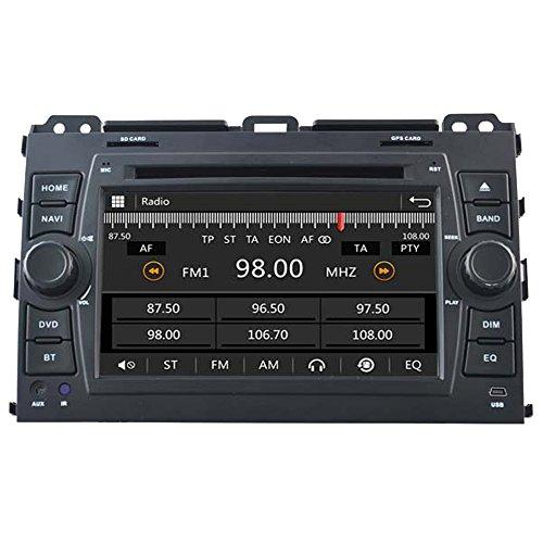 witson 7Zoll 2Din In-Dash Car DVD-Player für Toyota Prado 2002-2009Gps Navigation Radio Navi SAT Autoradio, mit SD/USB/iPod/iPhone/3G/Video/DVR, Rückfahrkamera, Bluetooth für Freisprecheinrichtung, Lenkrad-Steuerung 2002 Radio Ipod