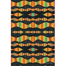Journal Your Life's Journey: Wavy Stripes Mosaic Seamless 1, Lined Journal, 6 x 9, 100 Pages