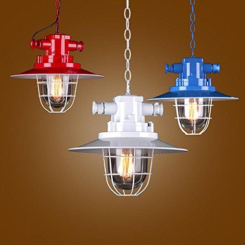 YAYONG lampadario classico vento industriale Restaurant Cafe Negozio di abbigliamento di ferro Pot Lampadario (Senza Luce) , black
