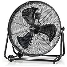 Orbegozo PWT 3061 - Ventilador industrial Power Fan profesional, potencia 150 W, 3 velocidades, diámetro hélice 60 cm, ruedas para transporte