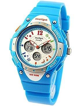Rtimer PASNEW Hohe Qualität Wasserdicht 100m Dual Time Unisex Kind im Freien Sport-Uhr-Blau
