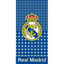 PHU CARBOTEX Toalla Playa del Real Madrid POLIÉSTER, Azul Ref:RM173013. Medida: