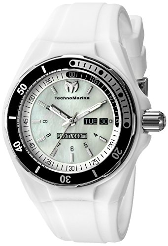 TechnoMarine TM-115123 - Reloj de pulsera para mujeres, color blanco