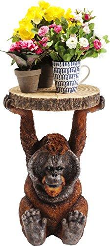Beistelltisch Animal Orang Utan, Ø33cm, kleiner, runder Couchtisch, Holzoptik, Tierfigur als ausgefallener Wohnzimmertisch, (H/B/T) 52x35x33cm Ausgefallene Esstisch