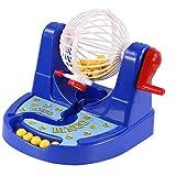 MagiDeal Mini Bingo Lottery Machine Draw Trinkspiel Set für Party Haus Bar