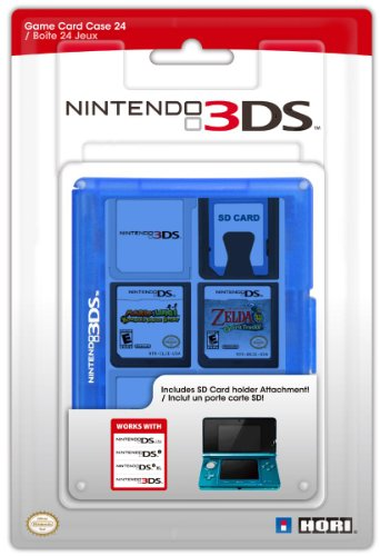 Nintendo 3DS - Game Card Case (24 Spiele) [New Nintendo 3DS, Nintendo 3DS, Nintendo DS] blau