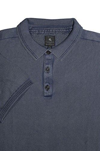 Kitaro, kurzarm Polohemd Poloshirt Pullover,Feinstrick,waterblue wasserblau antik [16868] basalt blue blaugrau antik
