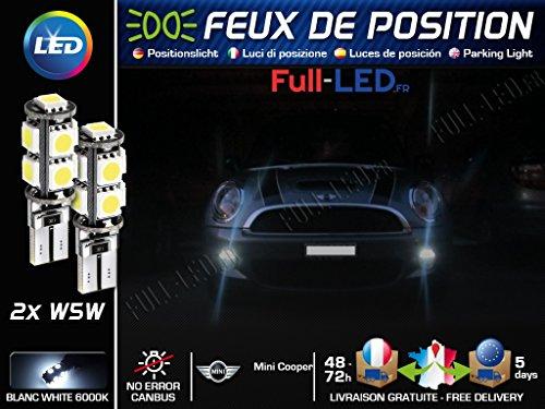 MyAutoLight - Ampoules Feux de position LED - Cooper- W5W blanc Xénon