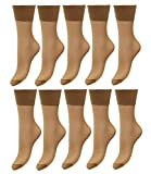 EveryHead Riese 10er Pack Feinsöckchen Damensöckchen Sparpack Markensöckchen Socken Söckchen Komfort für Damen (RS-11227-S18-DA0-10x62-OS) in 10er Marbella, Größe OS inkl Hutfibel