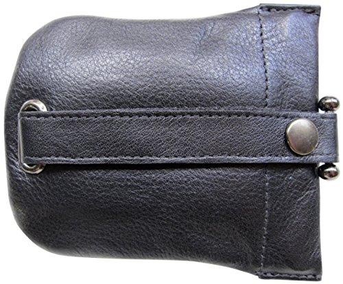 Josephine Osthoff Handtaschen-Manufaktur große Leder Schlüsselglocke Schwarz 968/10 (Schlüssel-halter Für Die Handtasche)