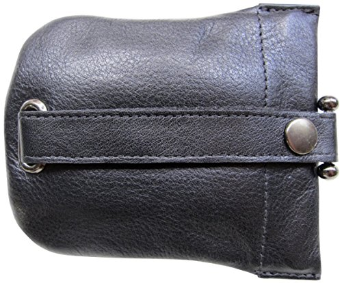 Josephine Osthoff Handtaschen-Manufaktur große Leder Schlüsselglocke Schwarz 968/10