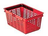 Durable 1801565080 Shopping Basket 19 Cestino Spesa da 19 litri in PPL con Grande Maniglia in Nylon, Confezione da 1 Pezzo, Rosso