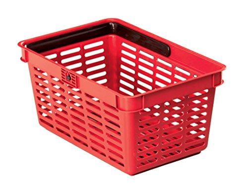 Durable 1801565080 Shopping Basket 19 Cestino Spesa da 19 litri PPL con Grande Maniglia Nylon Confezione da 1 Pezzo Rosso
