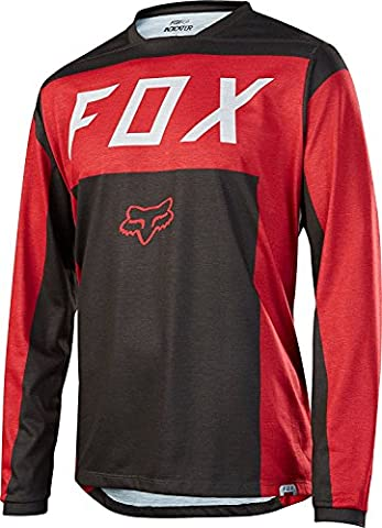 Fox Indicator Moth LS Jersey - Red, Medium / Long Sleeved Sleeve Bicycle Cycling Cycle MTB Mountain Biking Bike Off Road Riding Ride Dirt Jump Trail Enduro Man Men Adult Unisex Shirt Top T Tee Clothing Clothes Upper Body Apparel Attire Bikewear Wear Gear Kit Accessories All Weather Season Summer Winter MotoX MX Moto Motocross Breathable Pro Aero Team Downhill Freeride Cross Country DH FR XC Sport Outdoor Comfortable Comfort Comfy Relaxed Baggy Loose Fitting