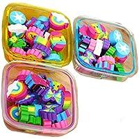 22pcs / Caja Cute Gomas de borrar Escolar Papeleria Regalo para Niño, Color Aleatorio (Square)