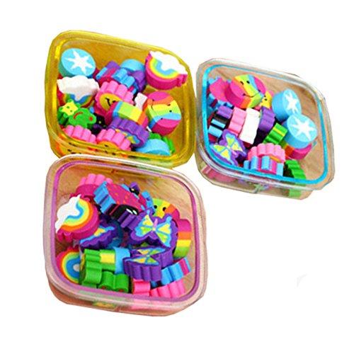 22 Teile / satz Radiergummis Set Kawaii Schulbedarf Schreibwaren Kind Geschenk, Fallfarbe Zufällig...