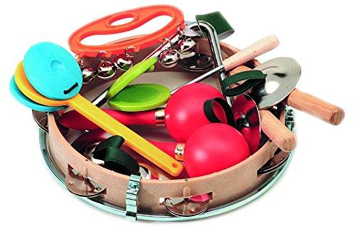 ten mit 7 weiteren Rhythmical und Perkussionsinstrumente Standard-Paket Mini-Set (Finger Tambourine)