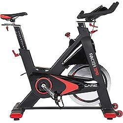 CARE FITNESS - Racer XPR électronique - Spin Bike Haut de Gamme - Vélo d'Appartement Spinning - Vélo Spinning électronique - Poids d'inertie 24 kg