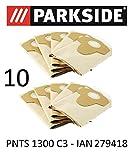 10 Parkside Staubsaugerbeutel 20 L PNTS 1300 C3 Lidl IAN 279418 braun 906-05 - Parkside Nass Trocken Sauger